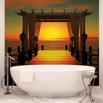 Sunset Paradise Beach Fotobehang