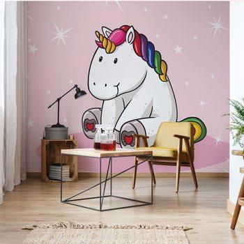 Sweet Unicorn Pink Fotobehang