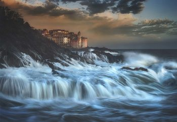Tellaro Water Fall Fotobehang