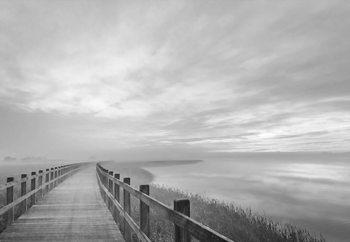 The Long Wooden Footbridge Fotobehang