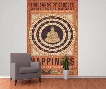 Thousand of Candles - Buddha, Happiness Fotobehang