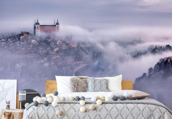 Toledo City Foggy Morning Fotobehang