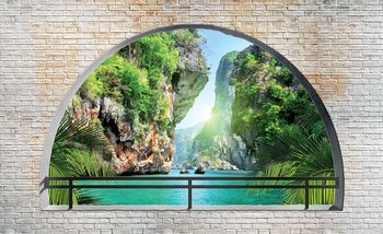 Tropical Arch View Fotobehang