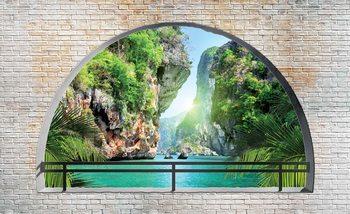 Tropical Arch View Fotobehang