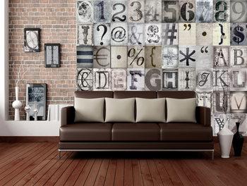 Typography Fotobehang