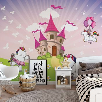 Unicorn Castle Fotobehang