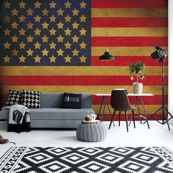 Vintage Flag Usa America Fotobehang