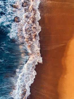 Water arrive to sand Fotobehang