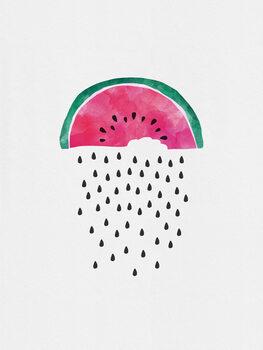 Watermelon Rain Fotobehang