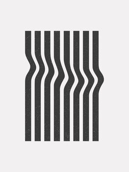 Wave stripe Fotobehang