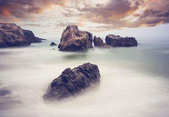 Waves And Rocks Fotobehang