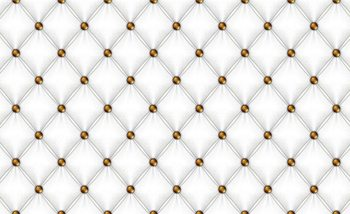White Pattern Checkered Fotobehang