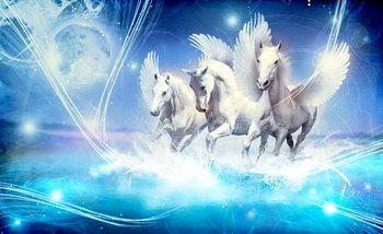Winged Horse Pegasus Blue Fotobehang