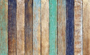 Wood Fence Planks Fotobehang
