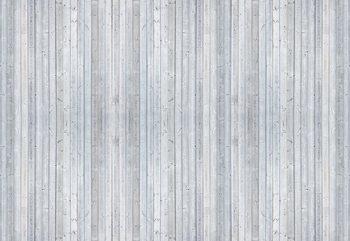 Wood Planks Light Grey Fotobehang