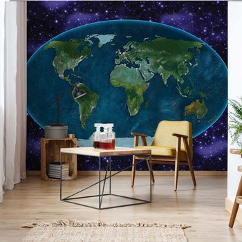 World Map Atlas Fotobehang