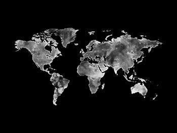 Worldmap platinum Fotobehang