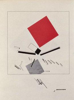 Reprodukcja `Of Two Squares`, frontispiece design, 1920, pub. in Berlin, 1922