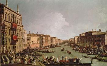 Reprodukcja A Regatta on the Grand Canal, c.1735
