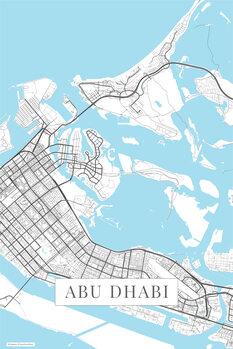 Mapa Abu Dhabi white