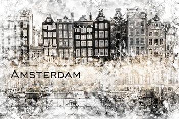 Ilustracja AMSTERDAM Collage