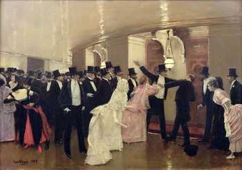 Reprodukcja An Argument in the Corridors of the Opera, 1889