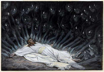 Reprodukcja Angels Came and Ministered unto Him, illustration for 'The Life of Christ', c.1886-94