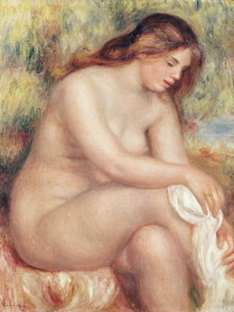 Reprodukcja Bather Drying Herself, c.1910