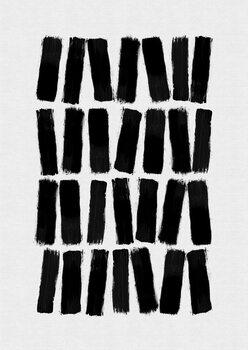 Ilustracja Black Brush Strokes