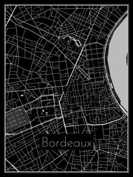Mapa Bordeaux