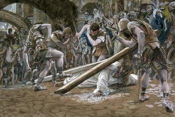 Reprodukcja Christ Falls Beneath the Cross, illustration for 'The Life of Christ', c.1884-96