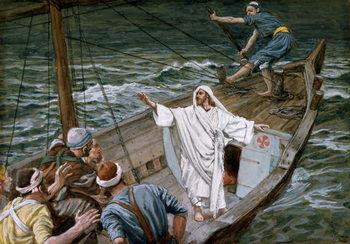 Reprodukcja Christ Stilling the Tempest, illustration for 'The Life of Christ', c.1886-94
