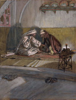 Reprodukcja Christ Talks with Nicodemus, illustration for 'The Life of Christ', c.1886-94