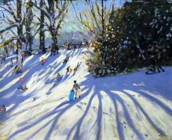 Reprodukcja Early snow, Darley Park