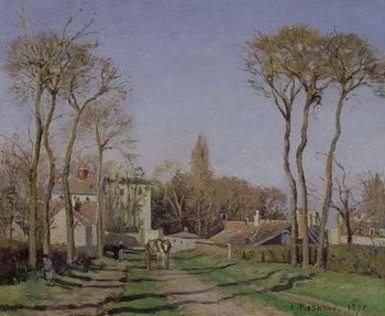 Reprodukcja Entrance to the Village of Voisins, Yvelines, 1872