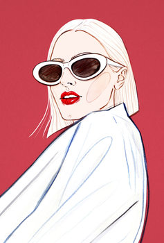 Ilustracja Fashion Face 2