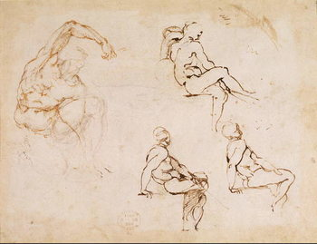 Reprodukcja Figure Studies for a Man,