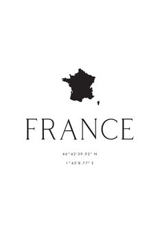 Ilustracja France map and coordinates