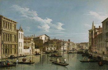 Reprodukcja Grand Canal from Palazzo Flangini to Palazzo Bembo, c.1740