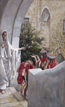 Reprodukcja Healing of the Canaanite's Daughter, illustration for 'The Life of Christ', c.1886-94