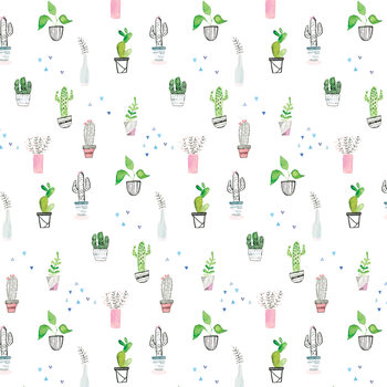 Ilustracja Houseplants and cacti