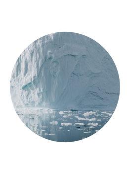 Ilustracja icebergs now circle