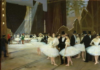 Reprodukcja In the Wings at the Opera House, 1889