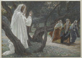 Reprodukcja Jesus Appears to the Holy Women, illustration from 'The Life of Our Lord Jesus Christ', 1886-94