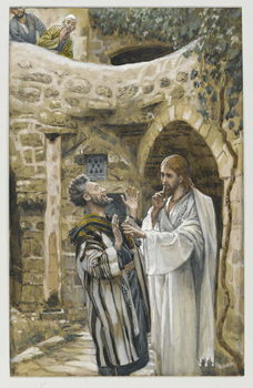 Reprodukcja Jesus Heals a Mute Possessed Man, illustration from 'The Life of Our Lord Jesus Christ'