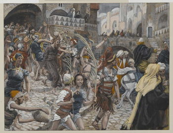Reprodukcja Jesus Led from Caiaphas to Pilate, illustration from 'The Life of Our Lord Jesus Christ', 1886-94