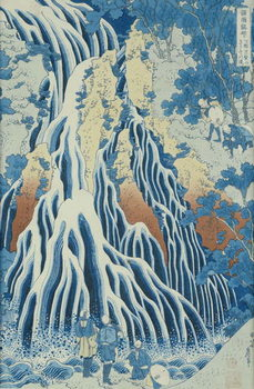 Reprodukcja Kirifuri Fall on Kurokami Mount, from the series 'Shokoku Taki Meguri' (A Journey to the Waterfalls of All the Provinces) c.1832