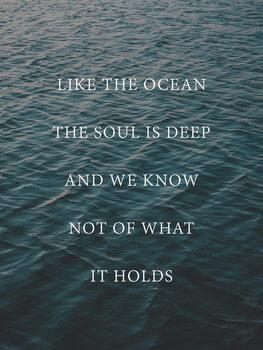 Ilustracja Like the ocean the soul is deep