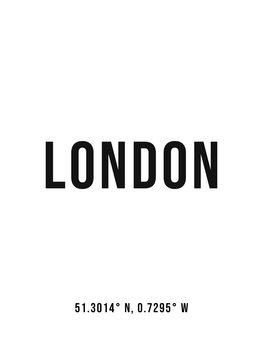 Ilustracja London simple coordinates