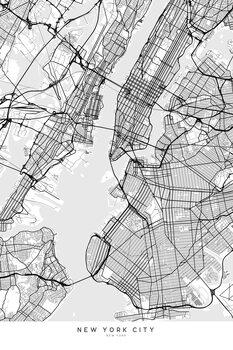 Ilustracja Map of New York City in scandinavian style